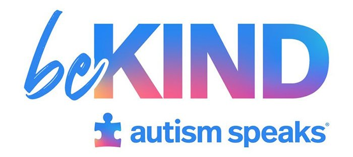 The logo for Autism Speak's 'Be kind' campaign.
