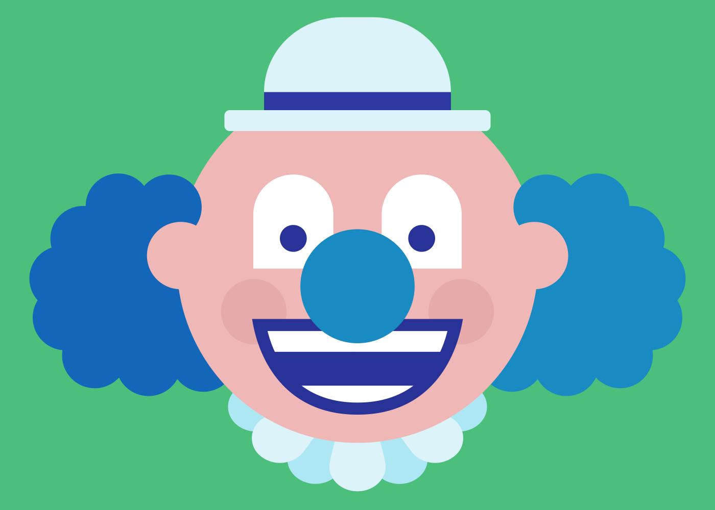 An illustration of a clown.