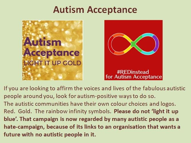 Embrace Autism | Reclaiming blue for autism | image AutismAcceptanceColors
