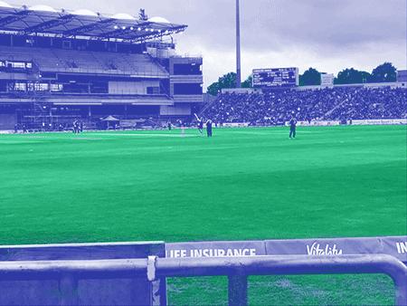 A photo of a cricket match.