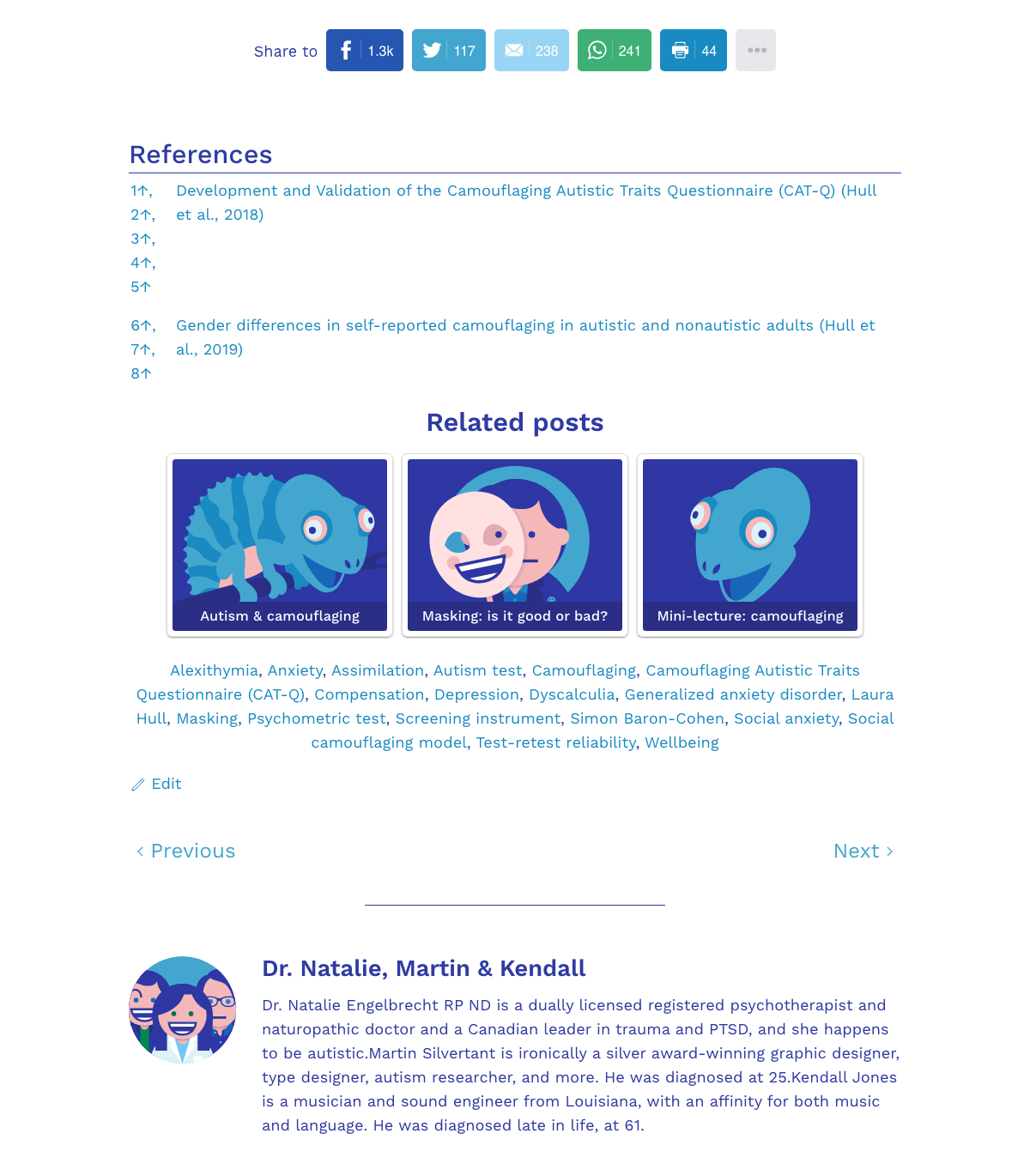 A screenshot of the old blog post layout.