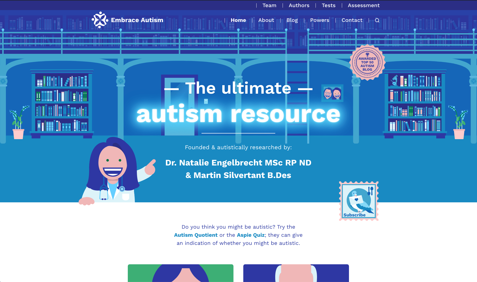 A screenshot of our home page as it appeared since the update in May 2021.