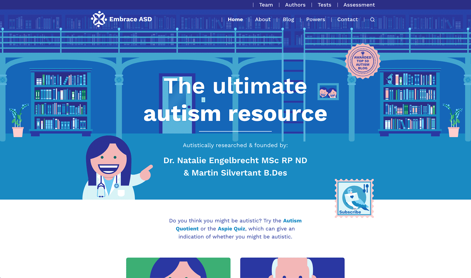 A screenshot of our home page as it appeared up to May 2021.